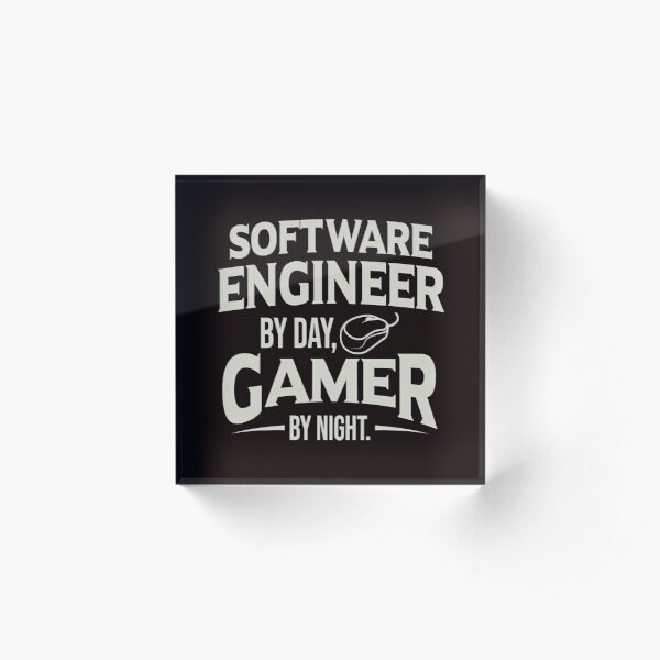 Software Computer Engineer Gift Gamer By Night Gift Acrylic Block