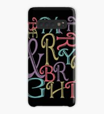 Be Merry and Bright Typography  Case/Skin for Samsung Galaxy