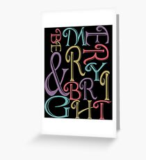 Be Merry and Bright Typography  Greeting Card