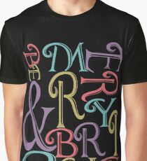 Be Merry and Bright Typography  Graphic T-Shirt