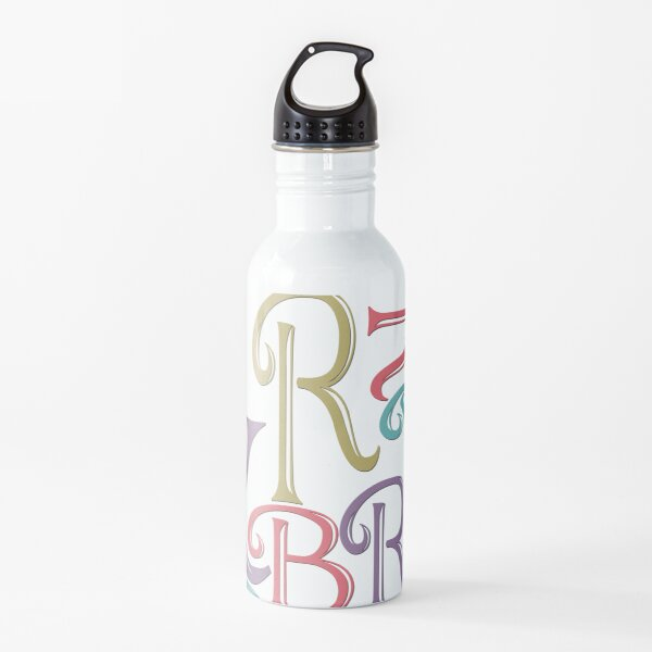 Be Merry and Bright Typography  Water Bottle