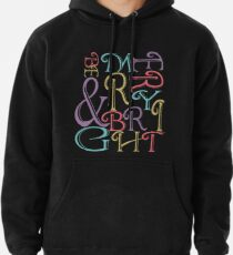 Be Merry and Bright Typography  Pullover Hoodie
