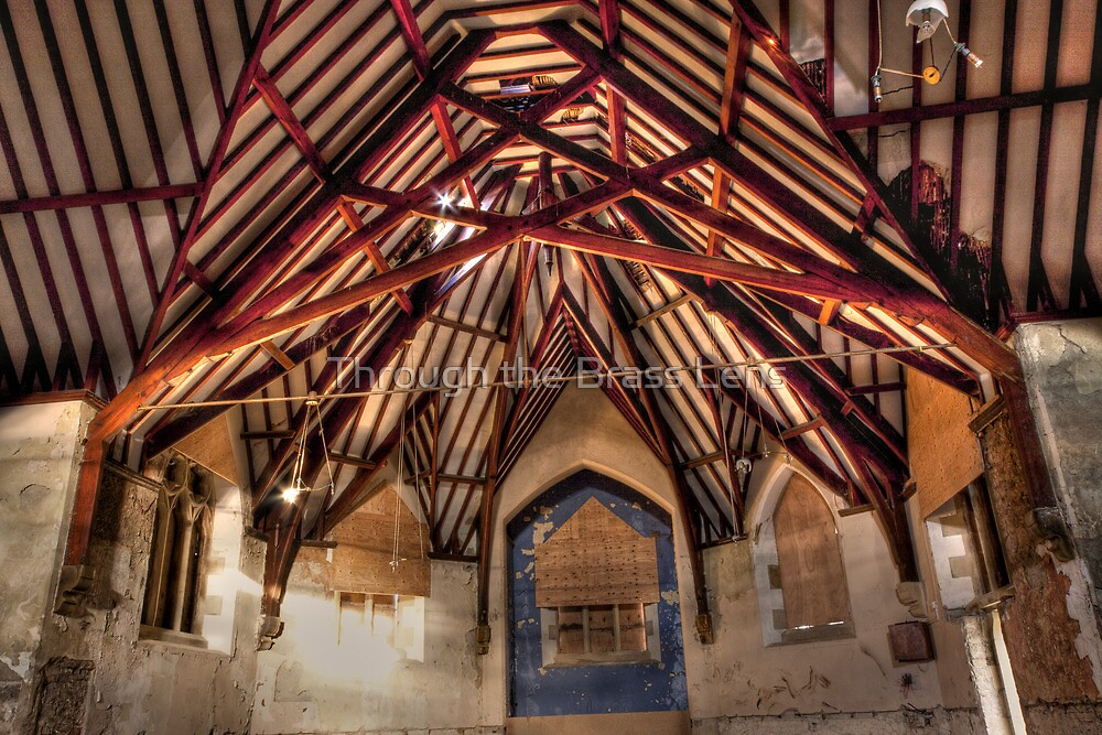 Chapel Rafters by Through the Brass Lens