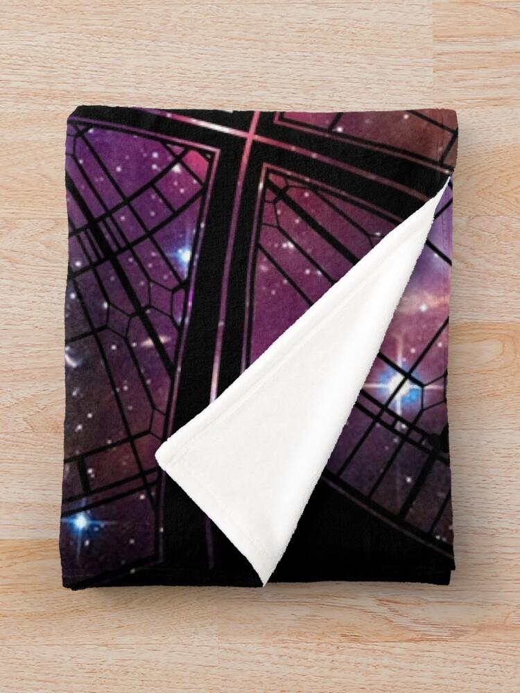 Alternate view of Strange window Throw Blanket