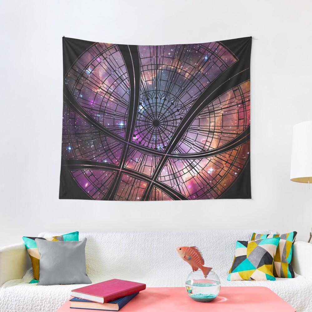 Strange window Tapestry