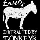 Easily Distracted By Donkey Outfit Lover Gift von mjacobp