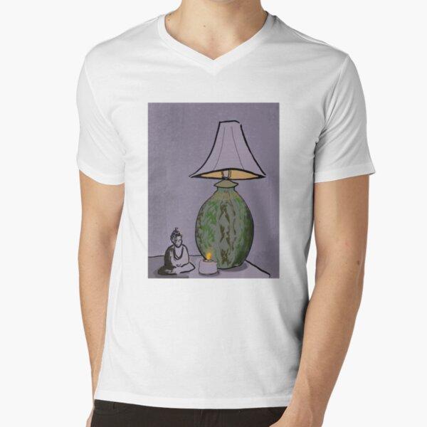 Buddha and Light V-Neck T-Shirt