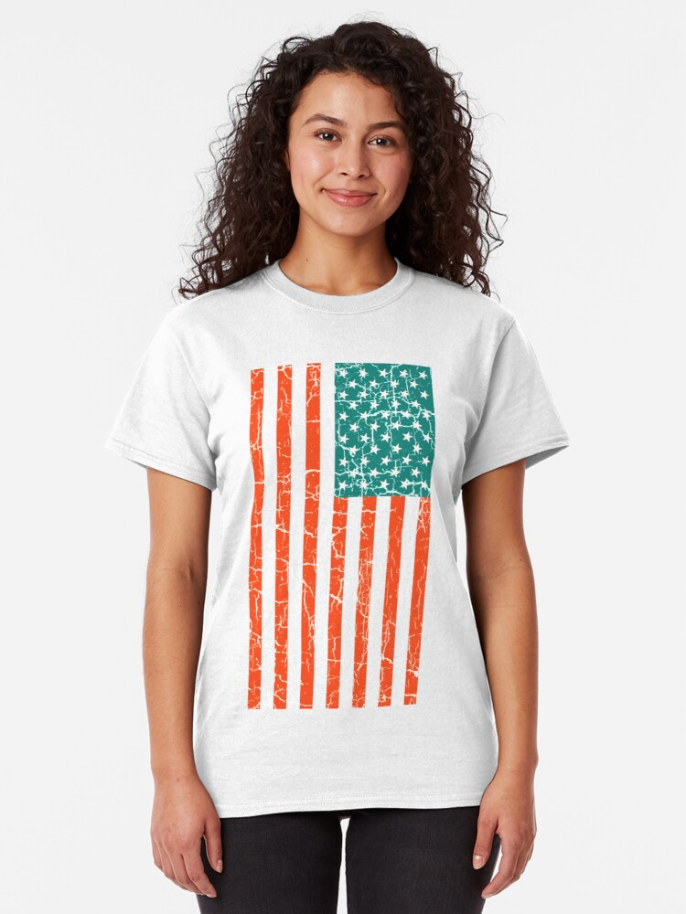 Tee Solid Graphic Retro Vintage American Flag Eagle Head t Shirt Girls Tops Humor