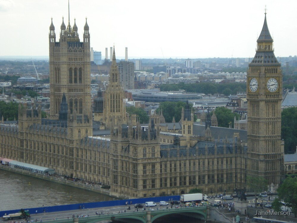 Houses of Parliament & Big Ben by JaneMerson