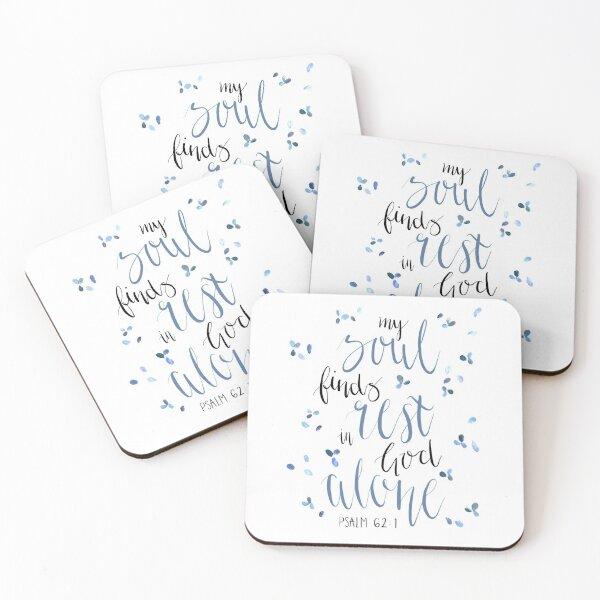 Psalm 62:1 Print  Coasters (Set of 4)