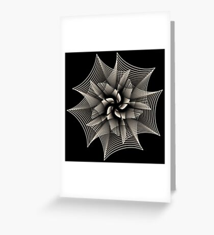 Abstract Monochrome Flower Greeting Card