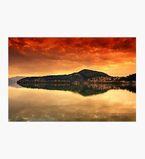 Kastoria...on Fire.... Photographic Print