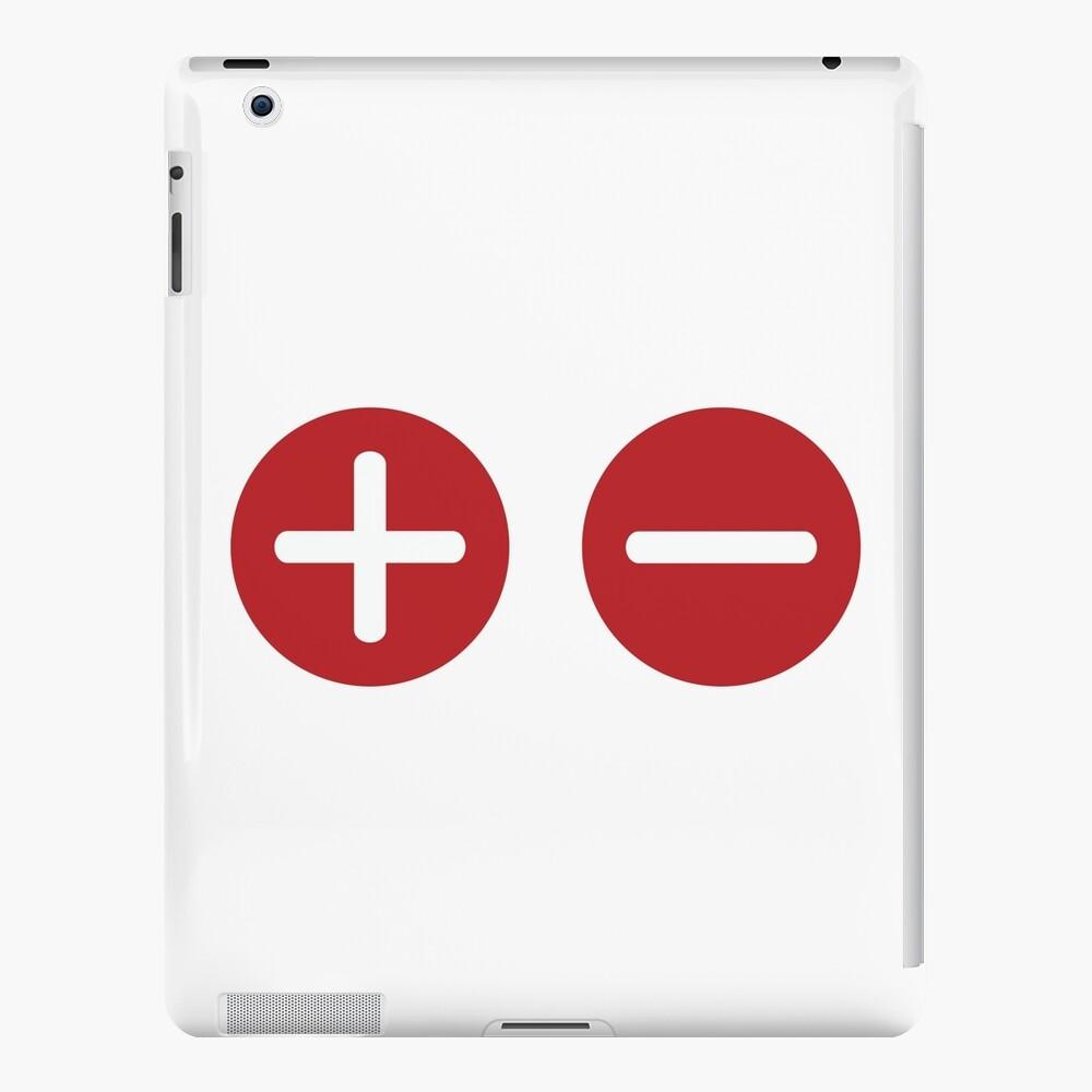 Plus and Minus iPad Case & Skin