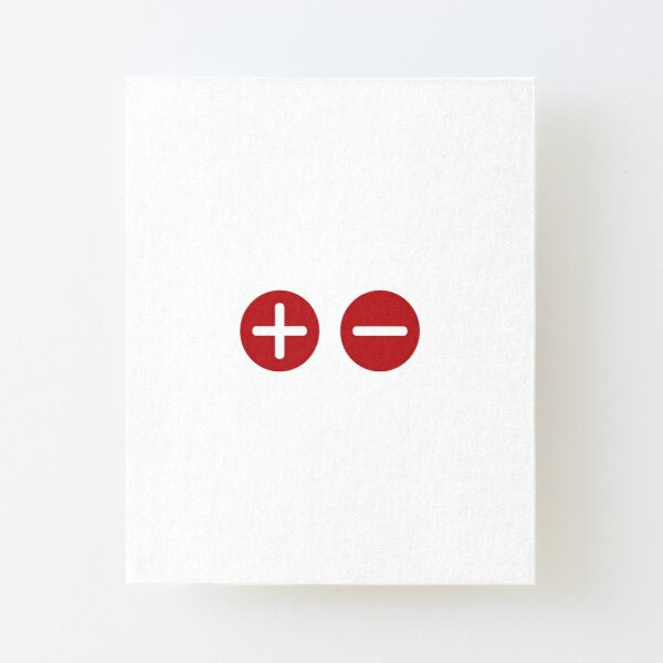 Plus and Minus Canvas Mounted Print