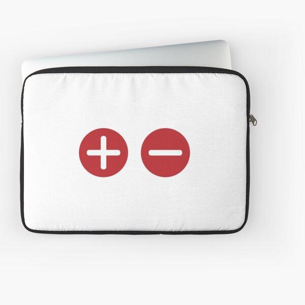 Plus and Minus Laptop Sleeve