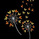 Awesome Butterfly Flower Monarch Dandelion Gift von mjacobp