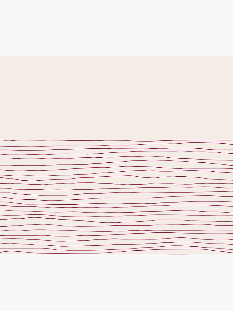 Hand Striped Pink Cream by missstriped
