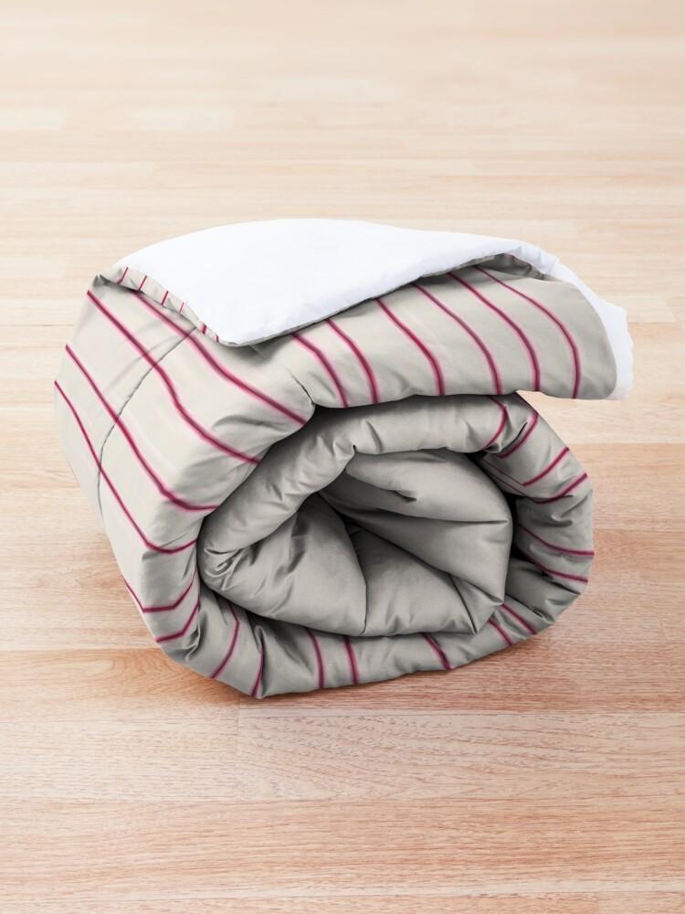 Alternate view of Hand Striped Pink Cream Comforter