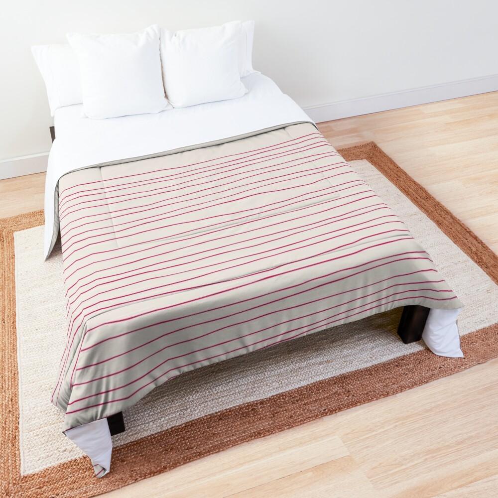 Hand Striped Pink Cream Comforter
