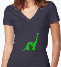 The Good Dinosaur Women's Fitted V-Neck T-Shirt