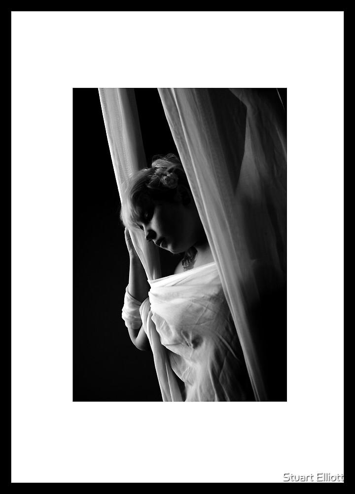 black and white portrait by Stuart Elliott