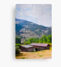 Historic Cabins In Bannack Canvas Print