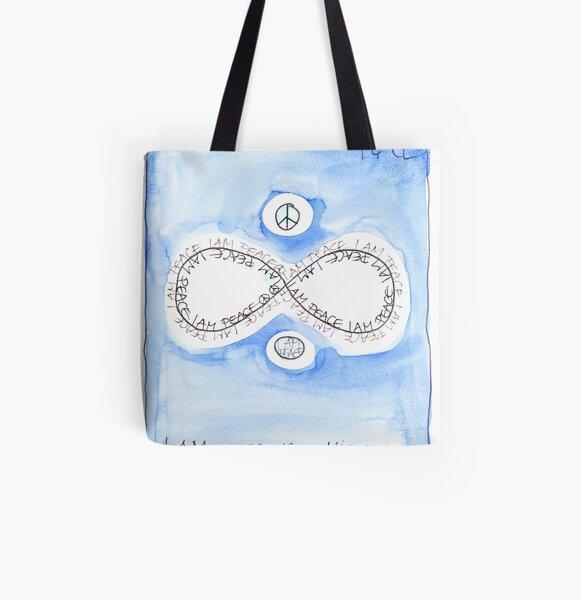Manifesto »I AM PEACE« Allover-Print Tote Bag