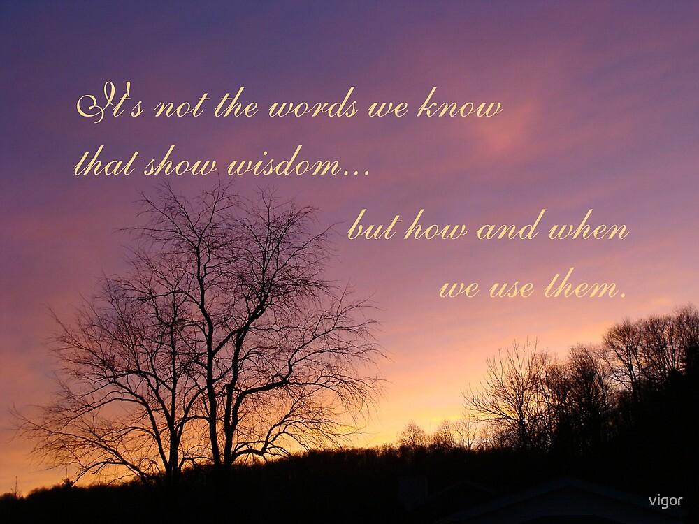 words of wisdom-inspirational by vigor