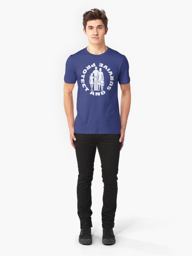Alternate view of NDVH Protect and Survive 2 Slim Fit T-Shirt