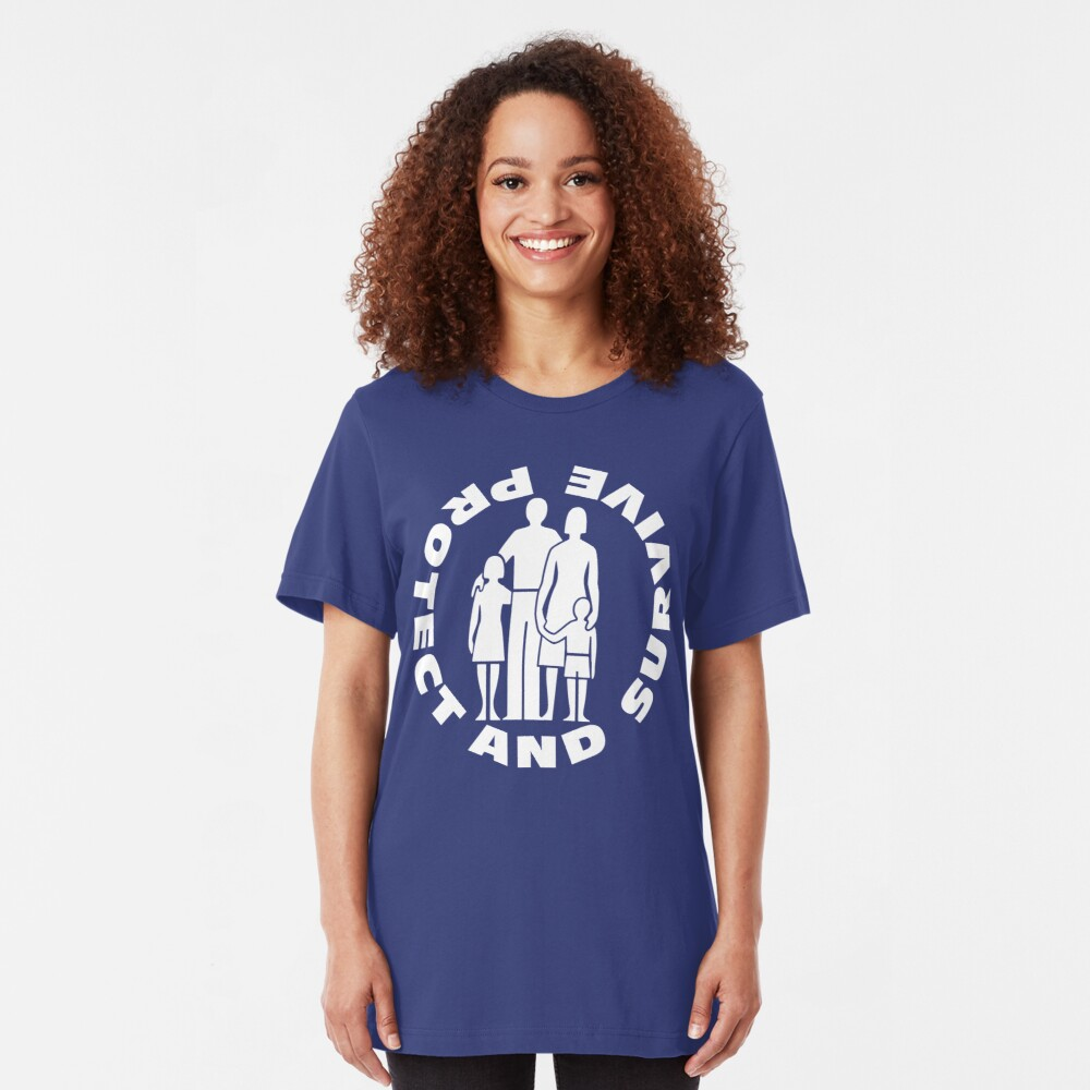 NDVH Protect and Survive 2 Slim Fit T-Shirt