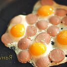 breakfast of quail eggs by Iuliia Dumnova