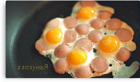 breakfast of quail eggs by Iuliia Dumnova