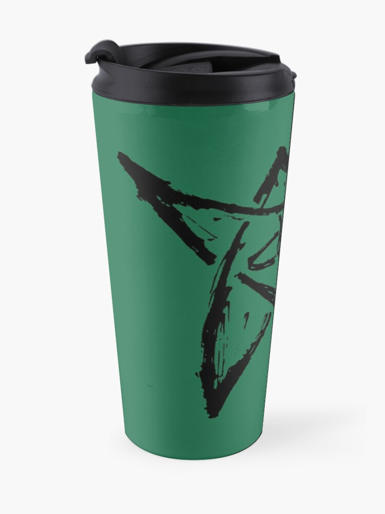 Alternate view of Call of Cthulhu, The Elder Sign - Ink Black Travel Mug