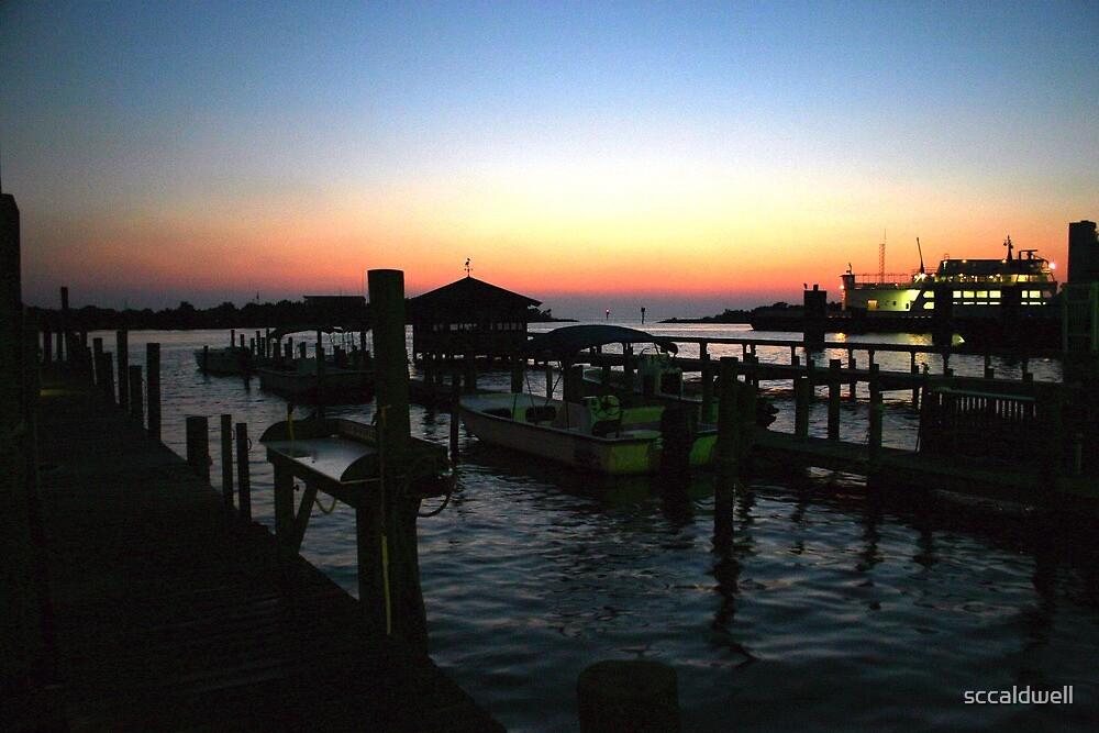 Boat dock at Ocracoke Island, North Carolina by sccaldwell
