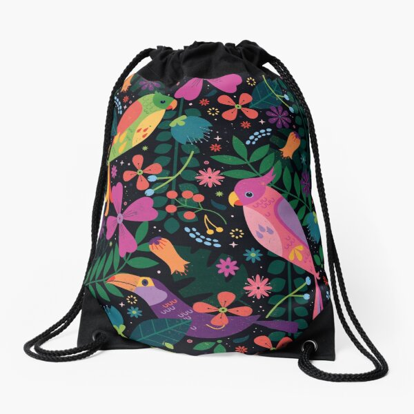 Enchanted Birds  Drawstring Bag
