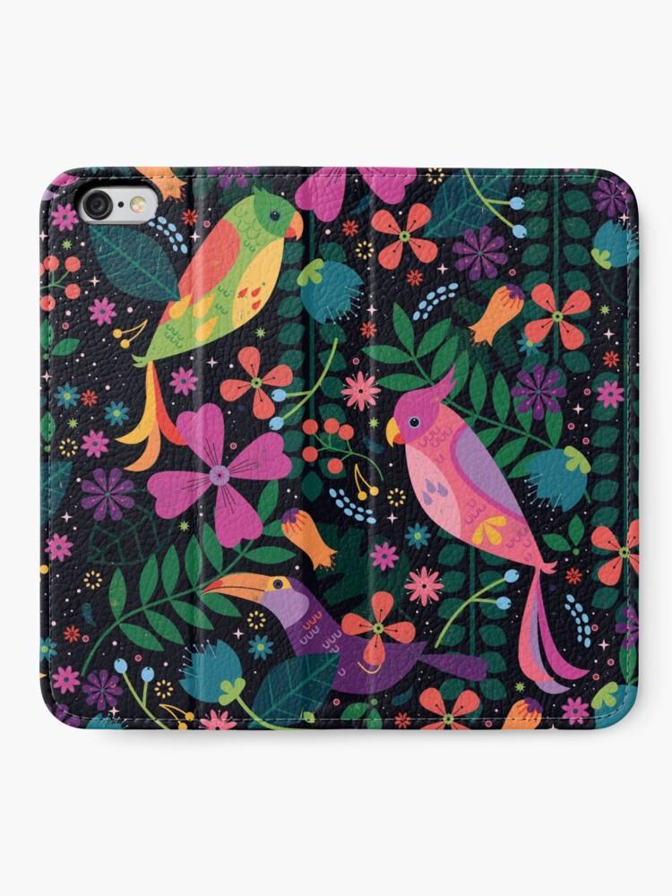 Alternate view of Enchanted Birds  iPhone Wallet