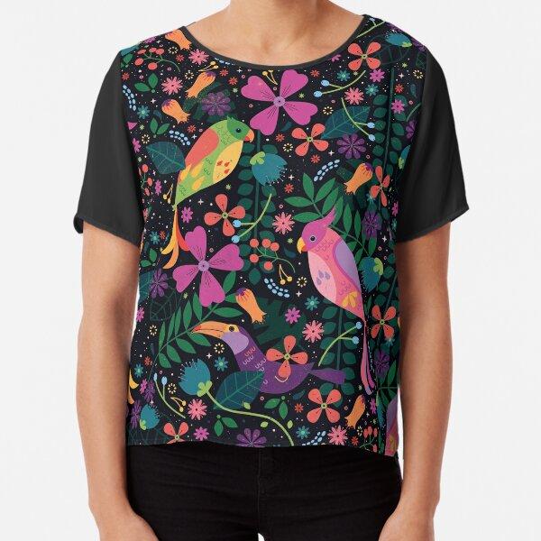 Enchanted Birds  Chiffon Top