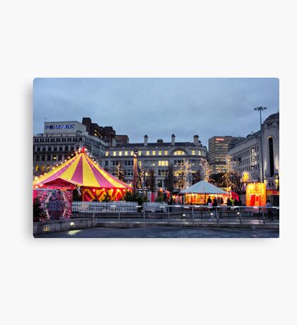 Manchesters Magical Christmas Campaign  Canvas Print