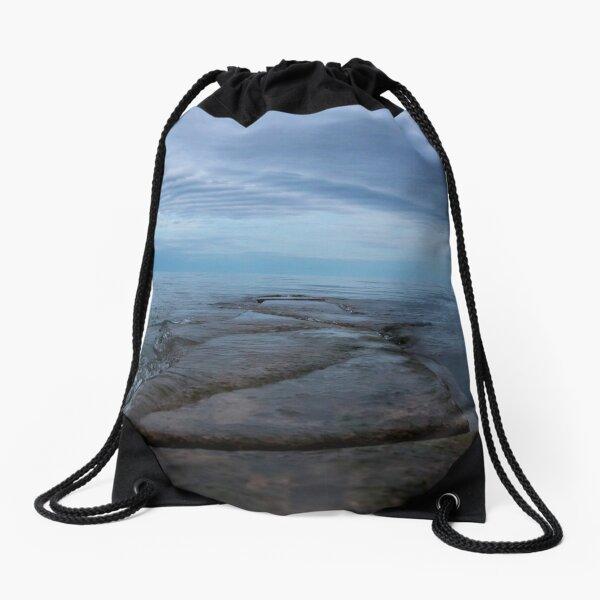Sunset at the lake Drawstring Bag