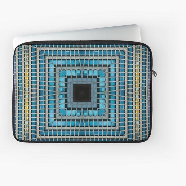 Square Kaleidoscope Architecture Geometric Window Pattern Laptop Sleeve