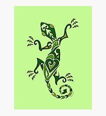 Lizard Tattoo -textured Photographic Print