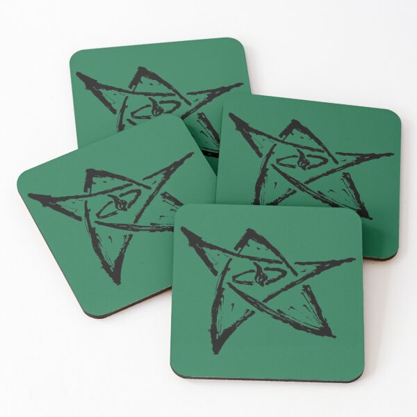 Call of Cthulhu, The Elder Sign - Ink Black Coasters (Set of 4)