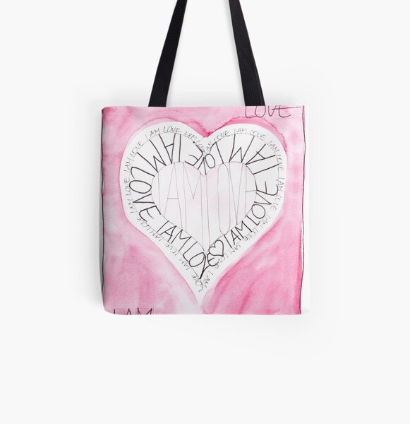 Manifesto »I AM LOVE« Allover-Print Tote Bag