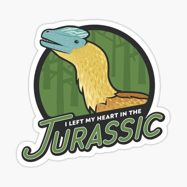 I Left My Heart in the Jurassic Sticker