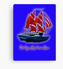 The Clipper Ship Indian Queen T-shirt, etc. design Canvas Print