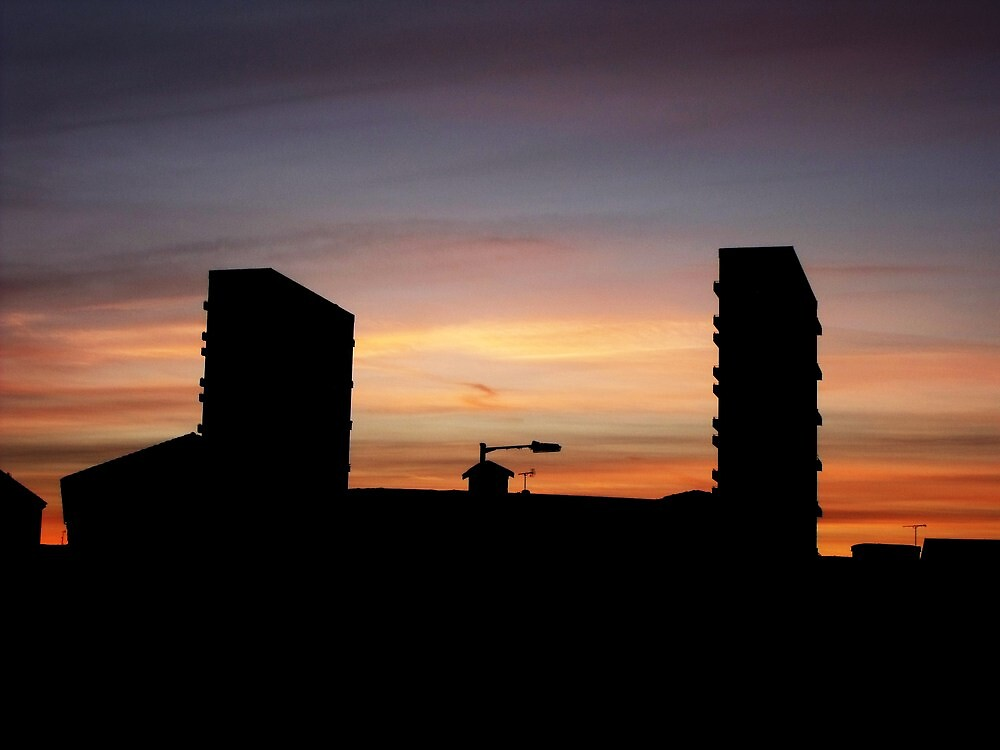 More Towerblocks In Silhouette by illman