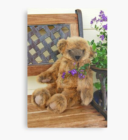 Big Teddy Loves The Outdoors Metal Print