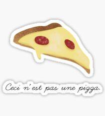 Ceci n'est pas une pizza. Sticker