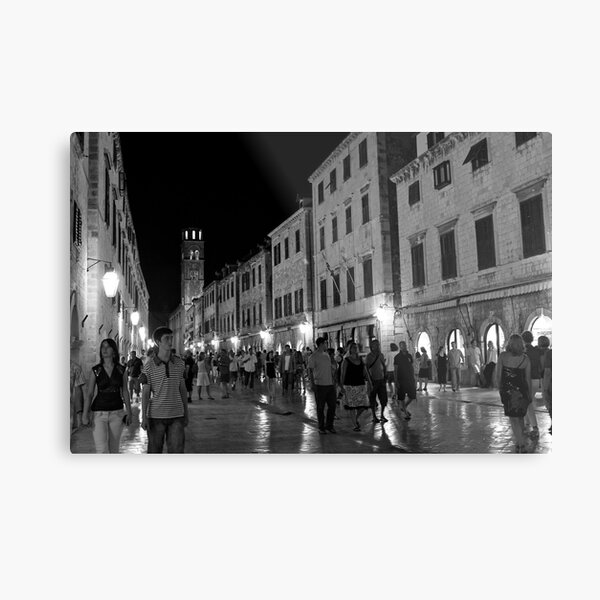 Nighttime in the Walled City Metal Print