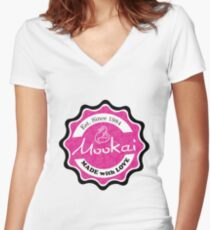 Mookai Rosie - Made With Love Women's Fitted V-Neck T-Shirt